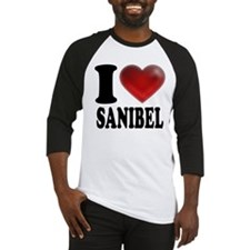 I Heart Sanibel Baseball Jersey