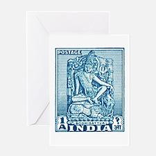 1949 India Bodhisattva Postage Stamp Greeting Card