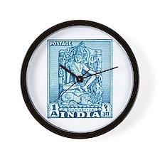 1949 India Bodhisattva Postage Stamp Wall Clock