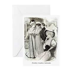 1907 Reception Gown Greeting Cards (Pk of 10)