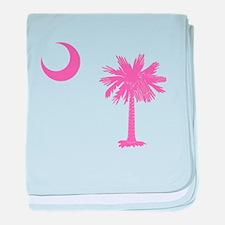 Palmetto & Cresent Moon baby blanket