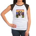 Beagle Meadow Women's Cap Sleeve T-Shirt