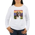 Beagle Meadow Women's Long Sleeve T-Shirt