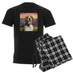 Beagle Meadow Men's Dark Pajamas