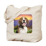 Beagle Meadow Tote Bag