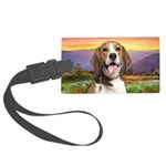 Beagle Meadow Large Luggage Tag