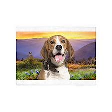 Beagle Meadow 5'x7'Area Rug