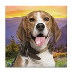 Beagle Meadow Tile Coaster