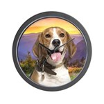 Beagle Meadow Wall Clock