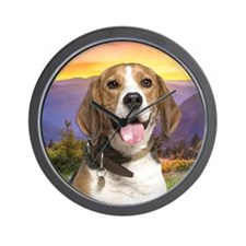 Beagle Meadow Wall Clock