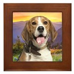 Beagle Meadow Framed Tile