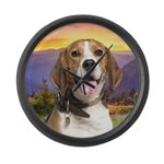 Beagle Meadow Large Wall Clock