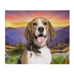 Beagle Meadow Throw Blanket