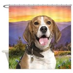 Beagle Meadow Shower Curtain