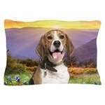 Beagle Meadow Pillow Case