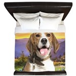 Beagle Meadow King Duvet