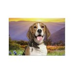 Beagle Meadow Rectangle Magnet (10 pack)