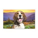 Beagle Meadow Car Magnet 20 x 12