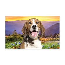 Beagle Meadow Car Magnet 20 x 12