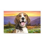 Beagle Meadow 20x12 Wall Decal