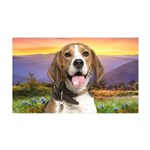 Beagle Meadow 35x21 Wall Decal
