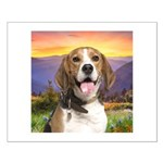 Beagle Meadow Small Poster