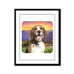 Beagle Meadow Framed Panel Print