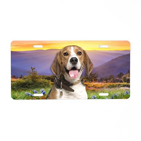 Beagle Meadow Aluminum License Plate
