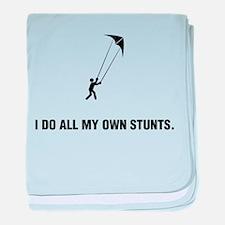 Stunt Kiting baby blanket