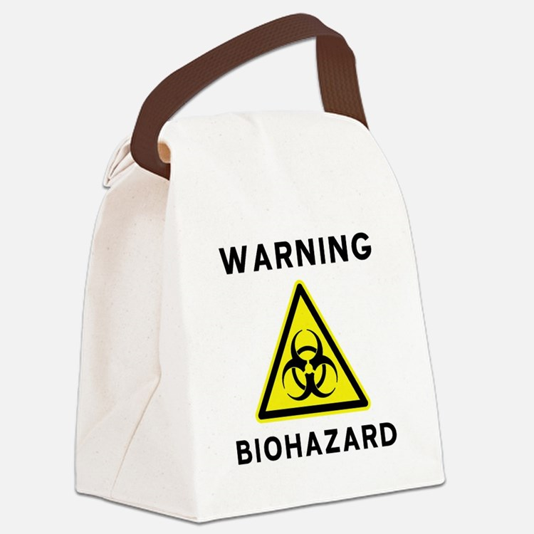 Biohazard Warning Sign Canvas Lunch Bag