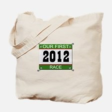 Our First Race Bib - 2012 Tote Bag