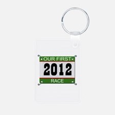 Our First Race Bib - 2012 Keychains