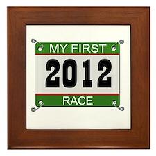 My First Race (Bib) - 2012 Framed Tile