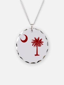 Palmetto & Cresent Moon Necklace
