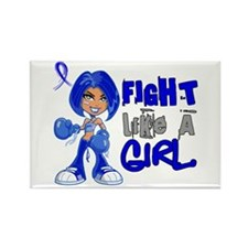 Fight Like a Girl 42.8 CFS Rectangle Magnet