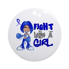 Fight Like a Girl 42.8 CFS Ornament (Round)