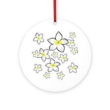 cute Bright yellow and white frangipani Ornament (