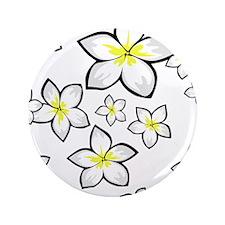 """cute Bright yellow and white frangipani 3.5"""" Butto"""