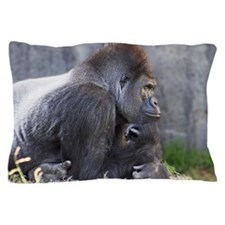 Gorilla in Thought Pillow Case