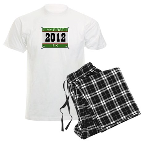 My First 5K (Bib) - 2012 Men's Light Pajamas