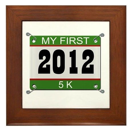 My First 5K (Bib) - 2012 Framed Tile