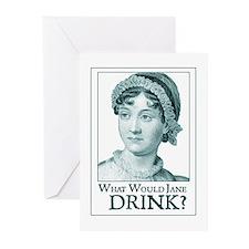 Jane Austen DRINK Greeting Cards (6)