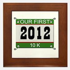 Our First 10K (Bib) - 2012 Framed Tile
