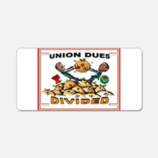 UNION GREED Aluminum License Plate
