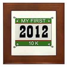 My First 10K (Bib) - 2012 Framed Tile