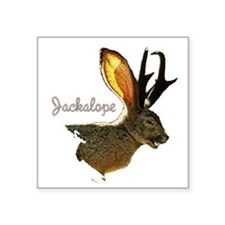 "Jackolope8.png Square Sticker 3"" x 3"""