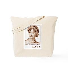 Jane Austen SAY Tote Bag