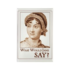 Jane Austen SAY Rectangle Magnet