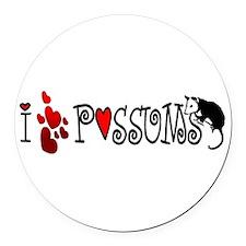 lovepossums2.png Round Car Magnet