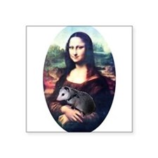 "monalisa2acd.png Square Sticker 3"" x 3"""